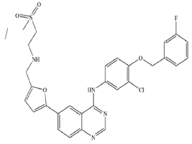 Chemical structure of the Lapatinib